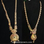 Latest Ruby Emerald Long Necklace Designs