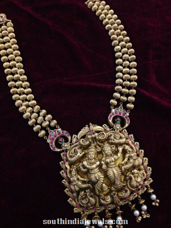 Nakshi Work Temple Jewellery from NAJ Jewellery