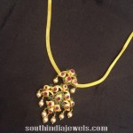 Gold Attigai with Rubies and Emeralds