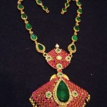 Ruby Emerald Short Necklace