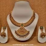 Antique Kundan Necklace With Jhumkas