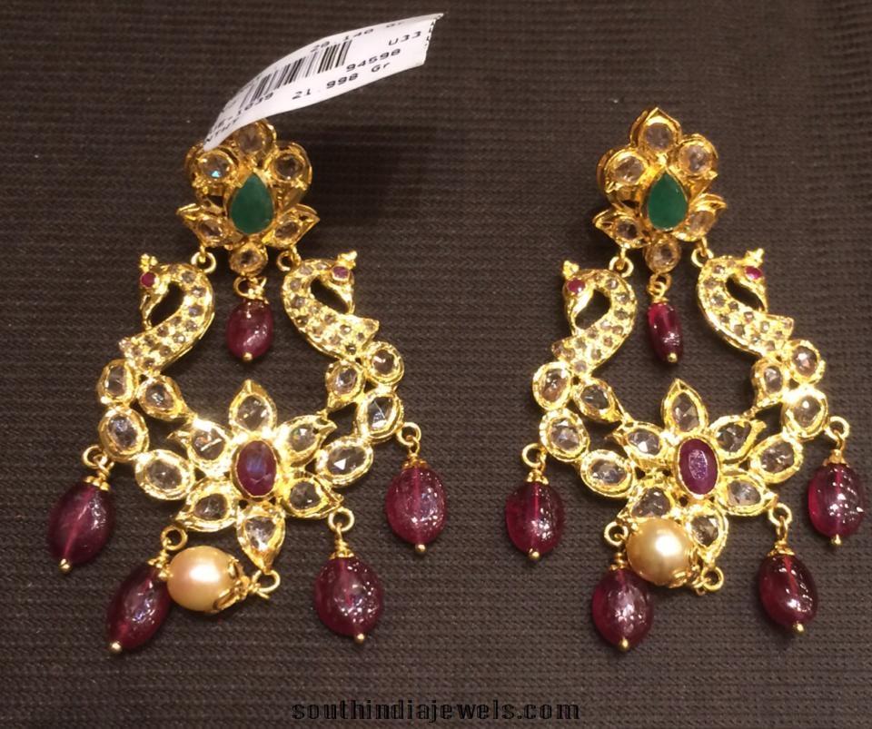 Gold Latest earrings design 2015