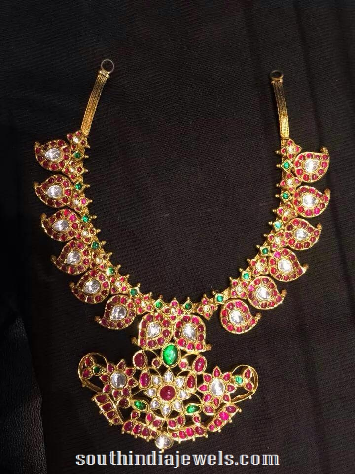 Gold Ruby Mango Necklace from RKR jewels