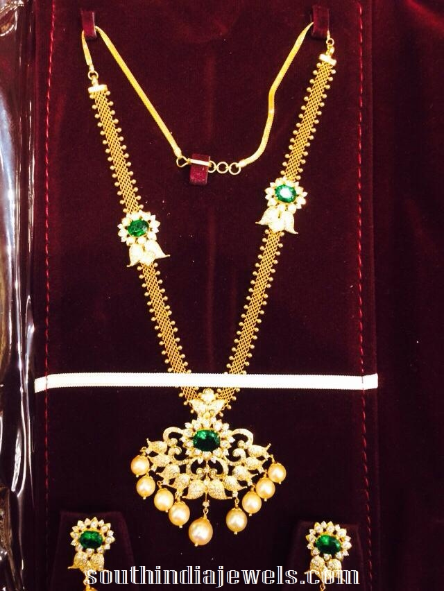 Attaigai style gold necklace sets