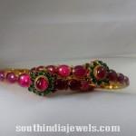 Traditional Ruby Emerald Bangle