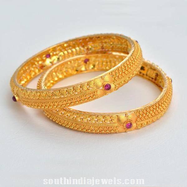 22k gold traditional bangles