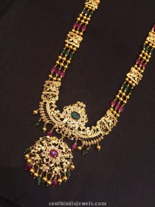 85 grams ranihaar long necklace design from premrah