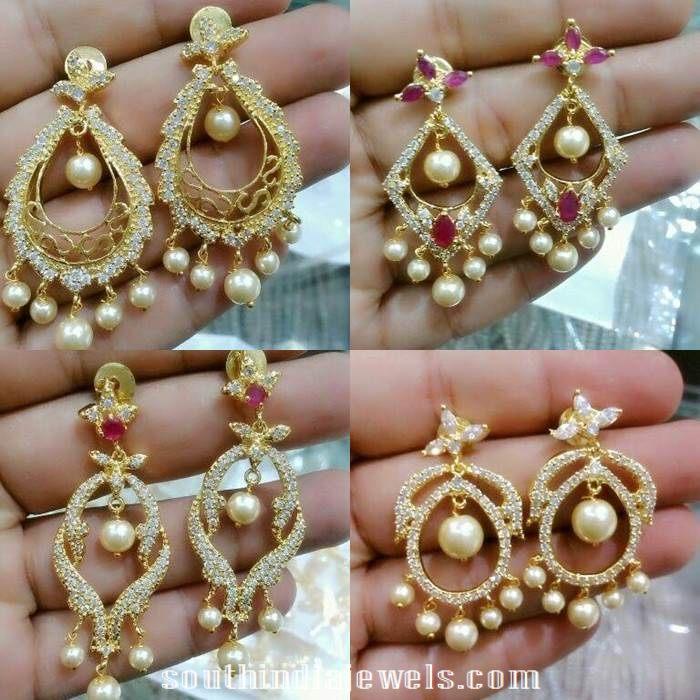 1 Gram gold Chandbali designs