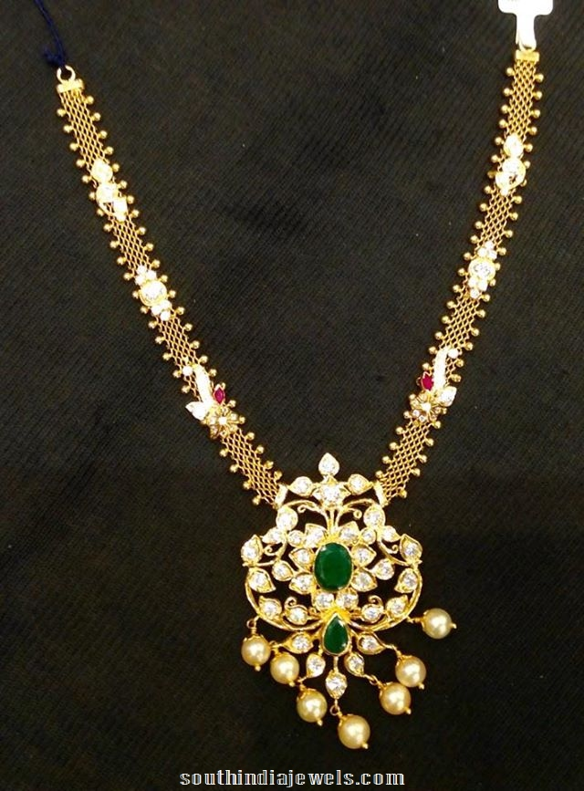 22K Gold Polki Necklace