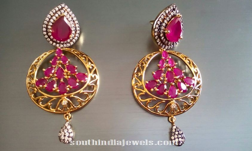 Designer Ruby Earrings