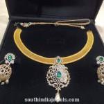 Diamond Necklace Set with Jhumkas