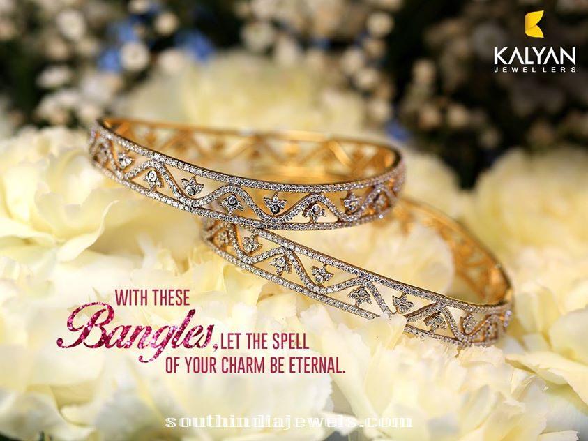 Diamond Bangles design from Kalyan Jewellers