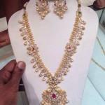Diamond Haram with Chandbali Earrings