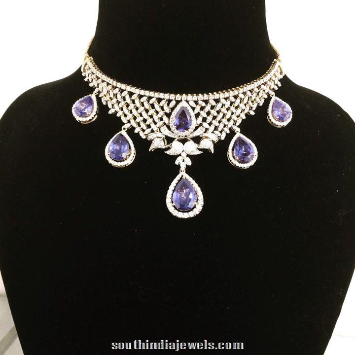 Diamond Choker necklace set from Parnicaa jewellers