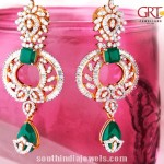 Diamond Earrings with Emeralds from GRT