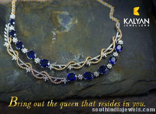 Diamond necklace design from Kalyan Jewellers