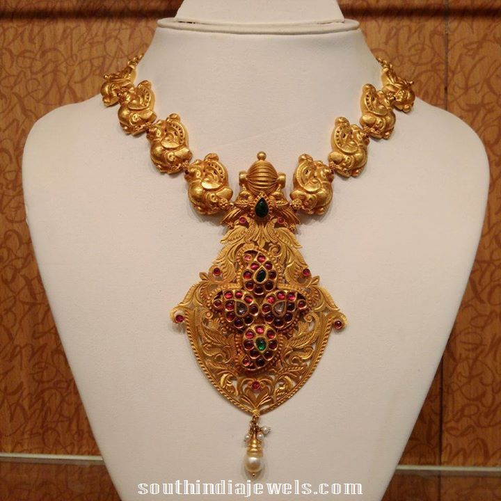 Heritage antique necklace with polki and rubies