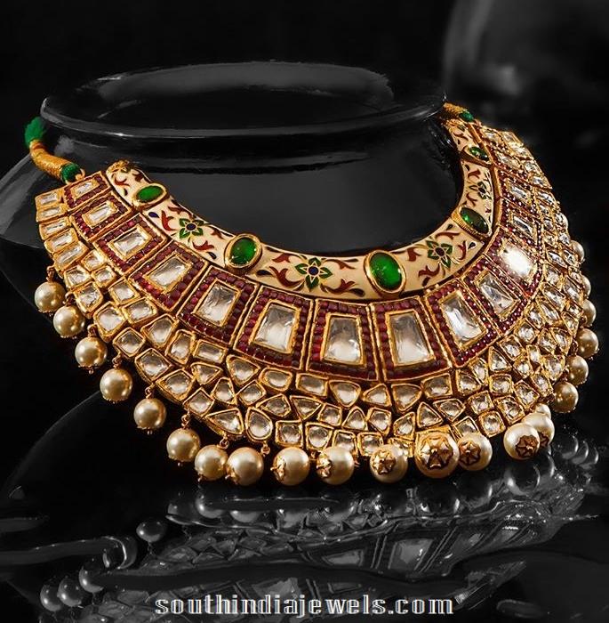 Kundan Choker Necklace design from JCS Jewels