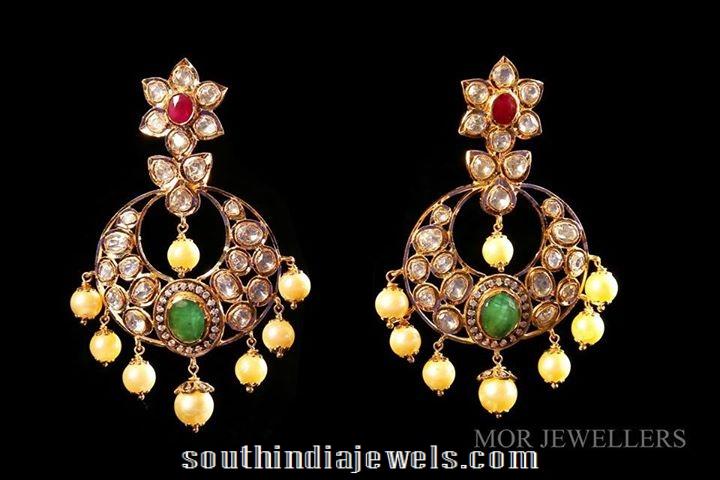 Polki chandbali from MOR jewellers