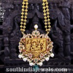 Gold Gundala Haram with Temple Pendant