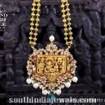 Gold Gundala Haram with Temple Pendant