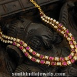 Two Layer Ruby Polki Necklace