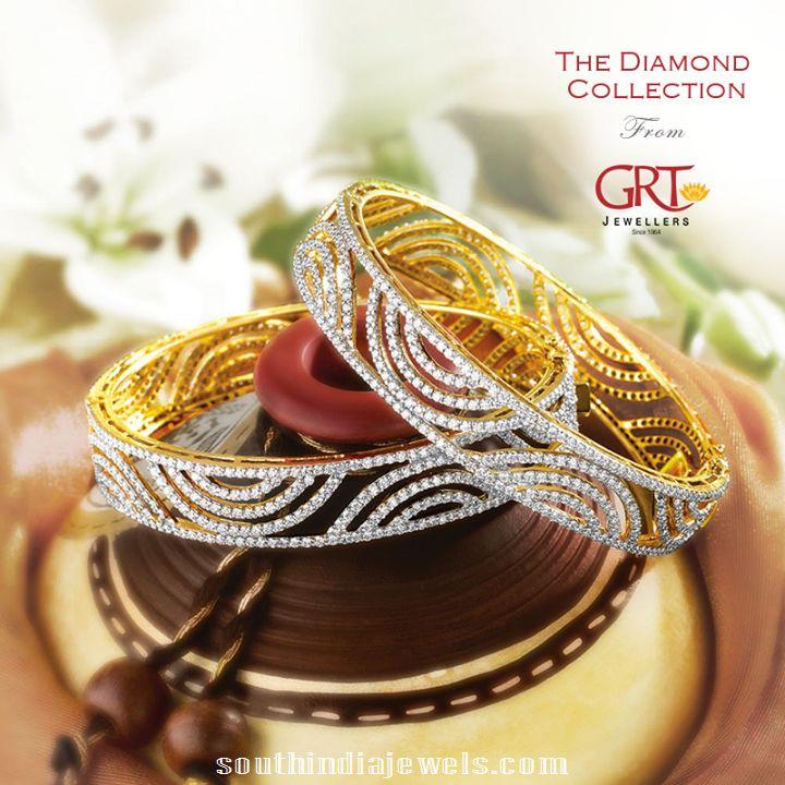 Diamond Bangles latest model from GRT jewellers