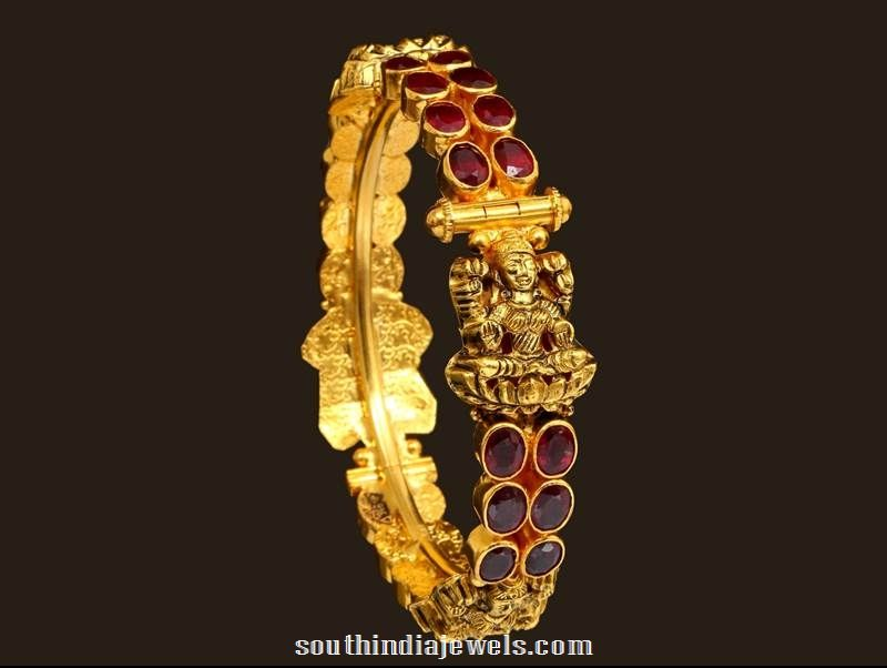 traditional gold antique lakshmi bangle from VBJ