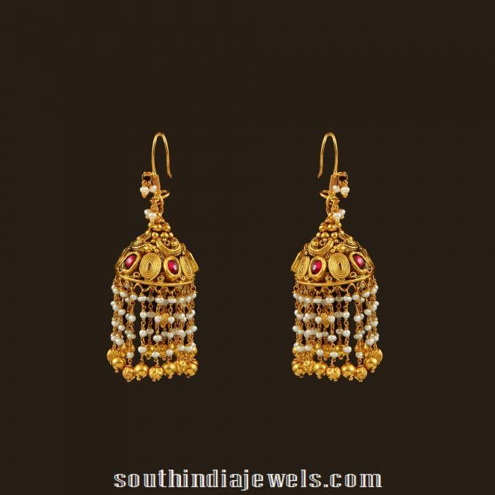 Gold Hook Pearl Drops