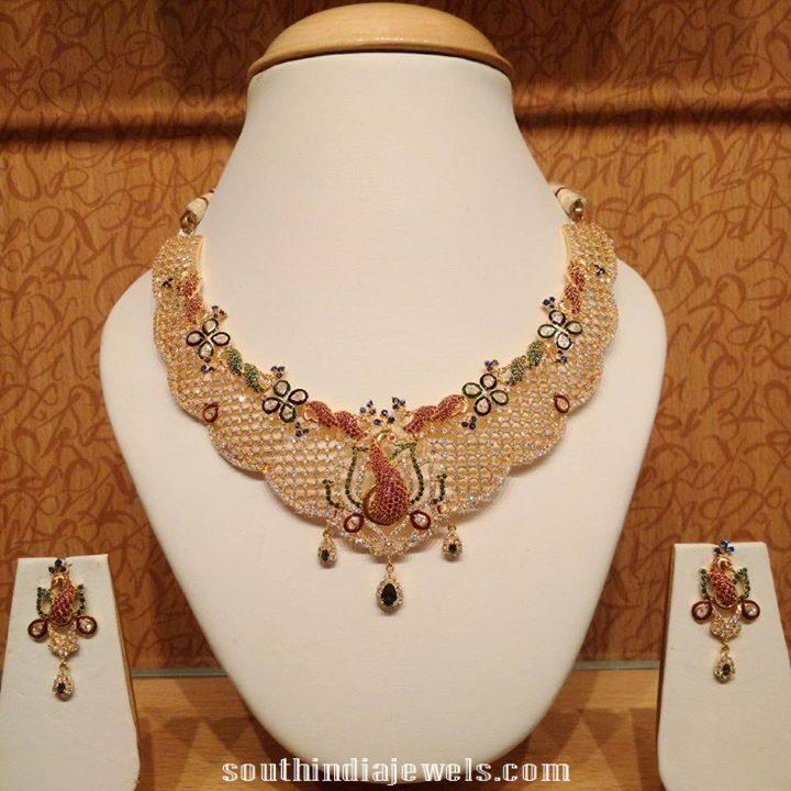 Latest CZ stone necklace model