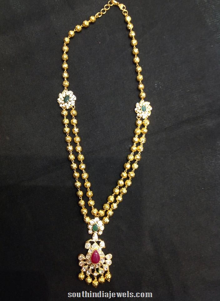 latest cz stone necklace design