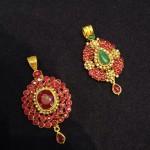 Latest Gold Ruby Pendant Designs