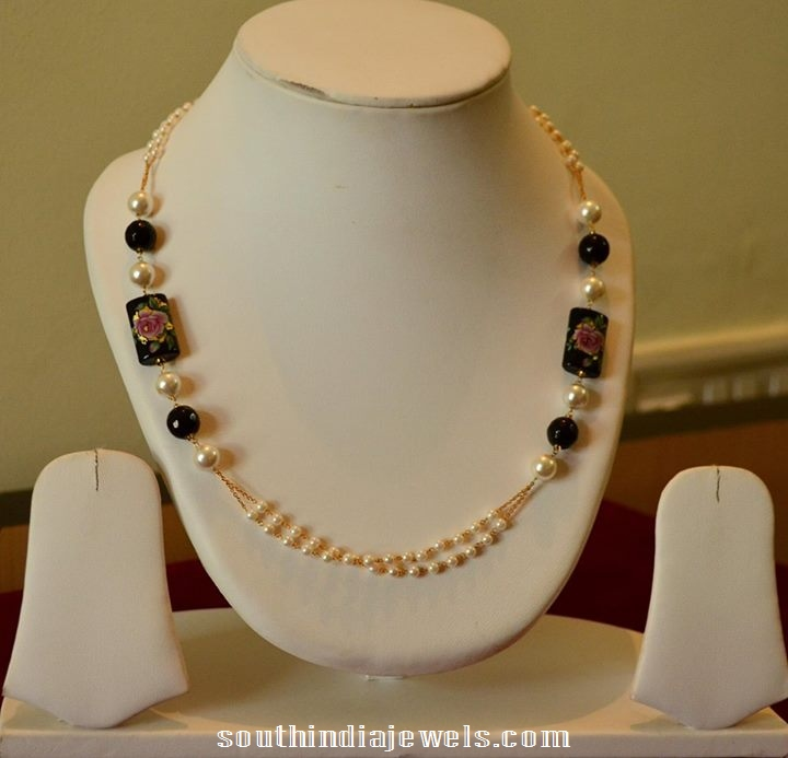 14kt gold pearls mala necklace