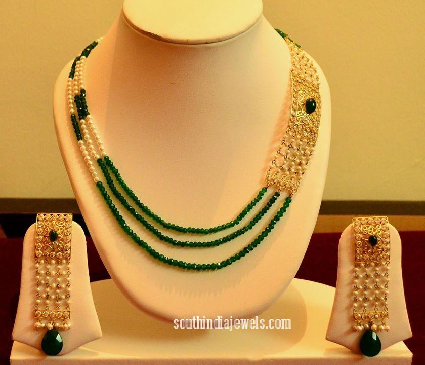 14K Gold Mutilayer designer beaded necklace