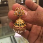 Gold Peacock Jhumki