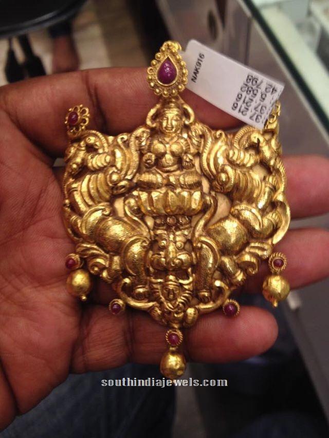 22 Carat gold Antique Lakshmi Pendant