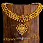 22K Gold Three Layer Bead Necklace