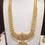 Multilayer Long Haram With Stone Pendant