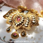 Gold Lotus Pendant From Tanishq