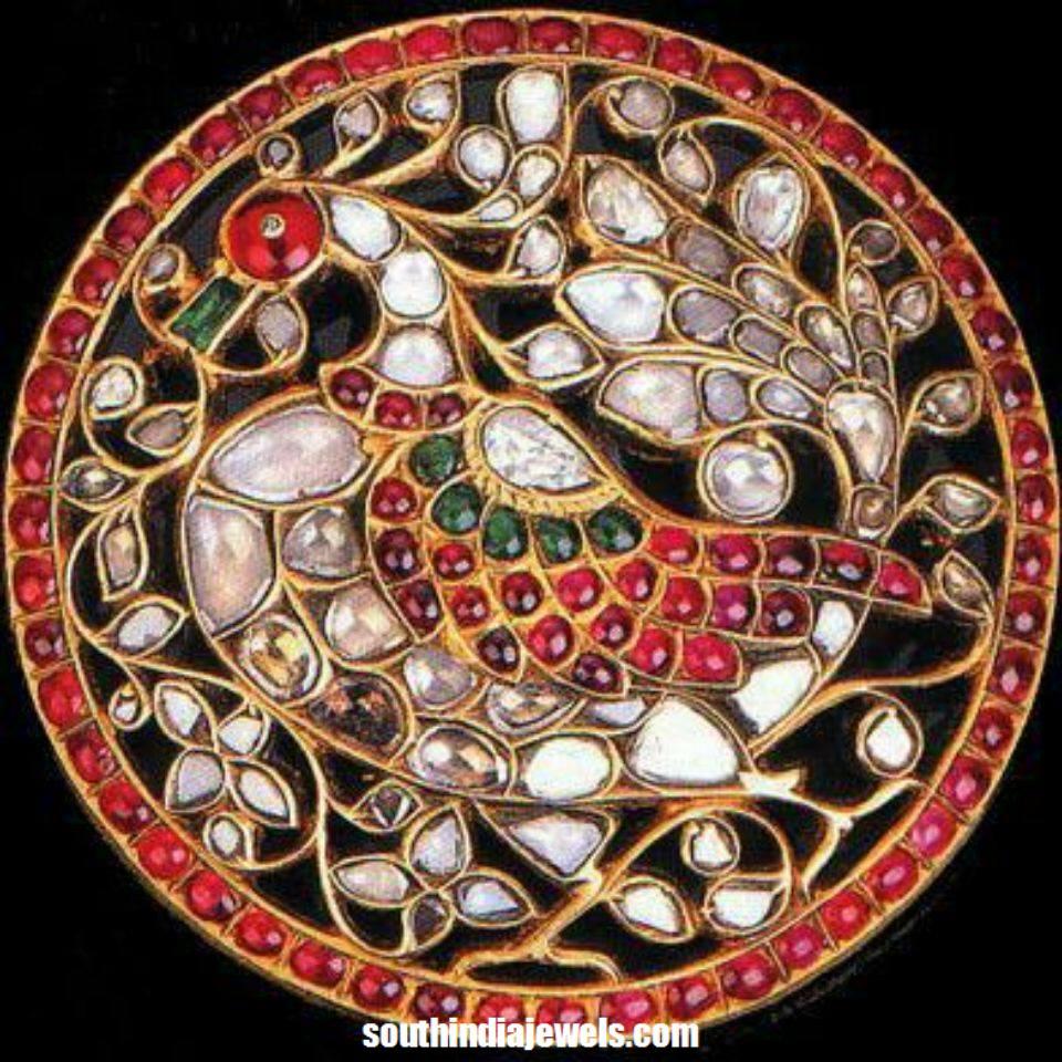 22k gold traditional peacck pendant from NAJ