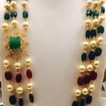 Three Layer Pearls Emerald Mala