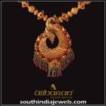 Gold Antique Peacock Pendant
