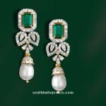 Diamond Emerald Earrings from GRT