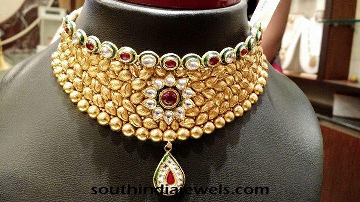 Gold Kundan Choker Necklace Latest Model 2015