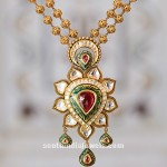 Gold Short Necklace From Tanishq