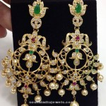 Artificial CZ Stone Earrings Design