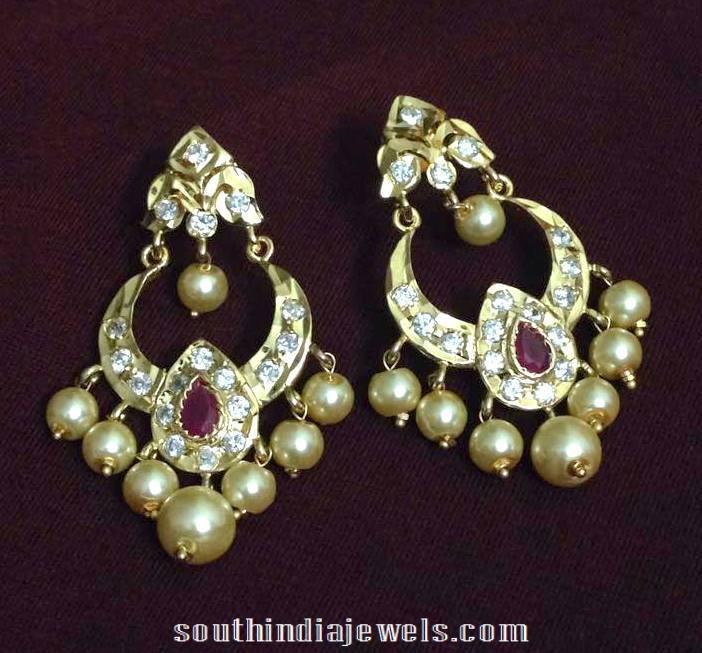 Imitation Chandbali model from Swarnakshi Jewels