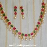 Imitation Stone Necklace Set