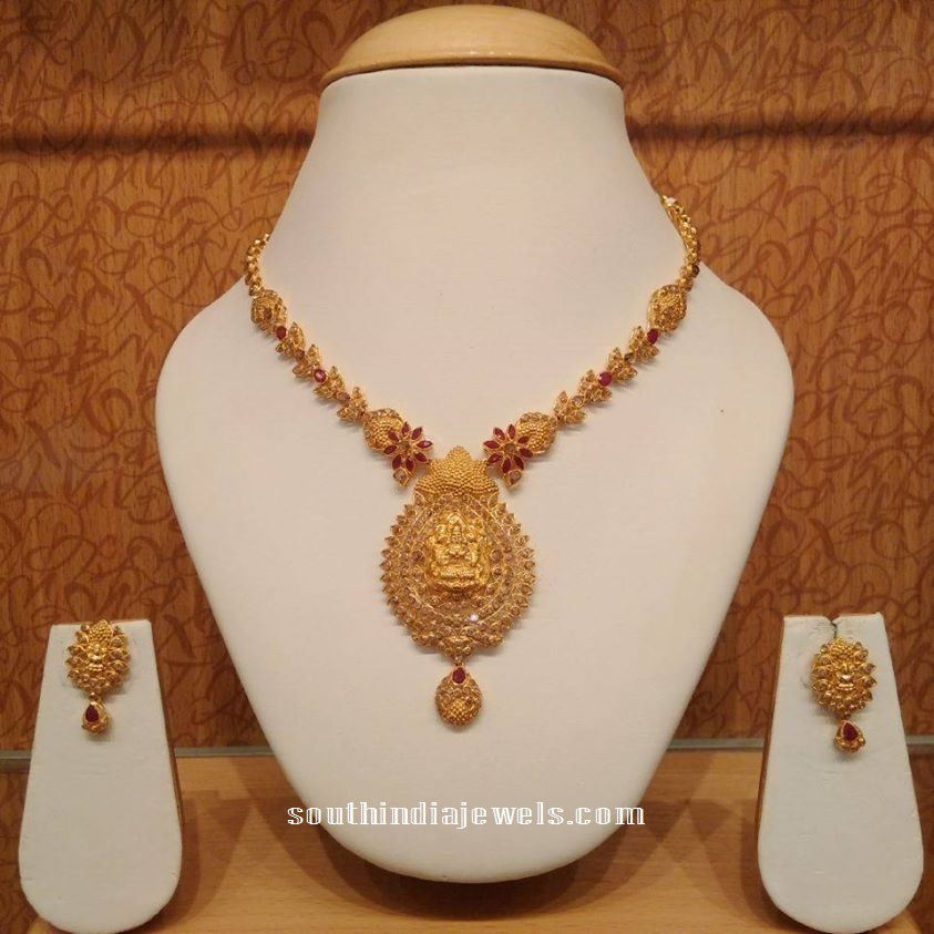 Latest temple jewellery neckalce from NAJ