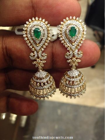 Latest diamond jhumka model 2015